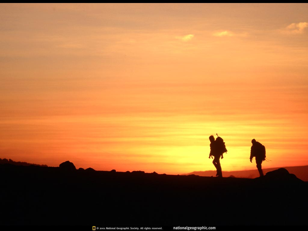 hiking silhouette desktop wallpaper - photo #9