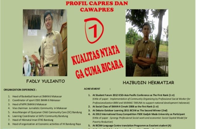 Capres Fadly dan Cawapres Tiar BEM STKS 2012-2013_2