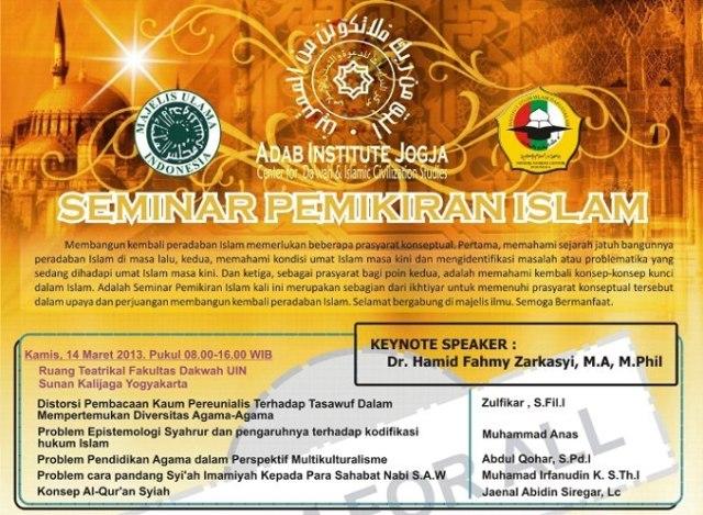 Seminar Peradaban Islam di DIY 2013