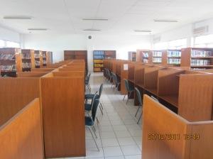 Ruang baca perpustakaan STKS Bandung tahun 2012