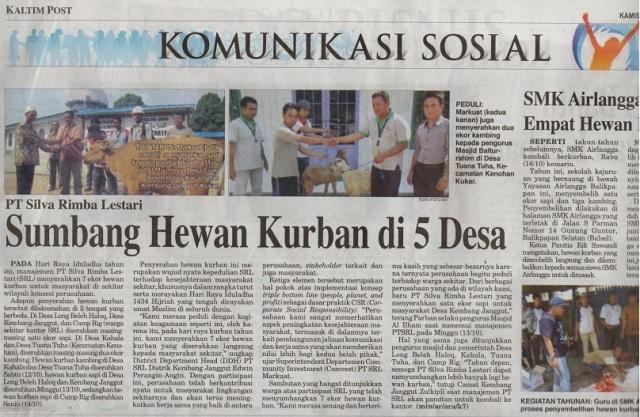 SRL masuk liput di Koran Kaltim Post Edisi 17 Oktober 2013