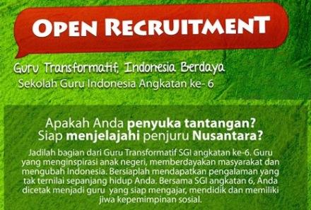 Oprec Sekolah Guru Indonesia Dompet Dhuafa 1-30 Nov 2013 - Copy