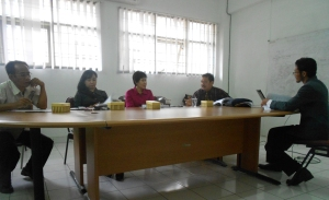 Saat Sidang Ujian Akhir Program Studi KIA STKS Bandung -September 2012-