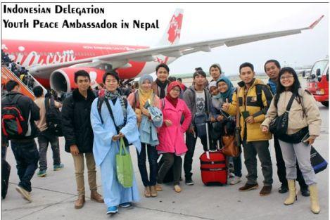 Foto  1: sewaktu memulai keberangkat ke Kathmandu, Nepal