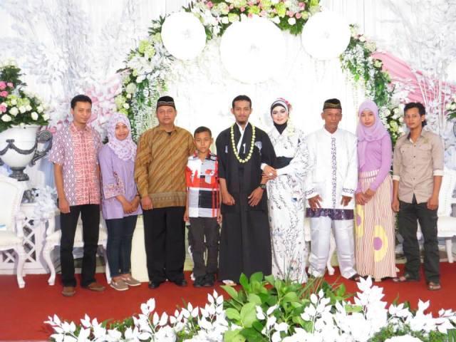 Foto walimah bersama Keluarga dari Bancar