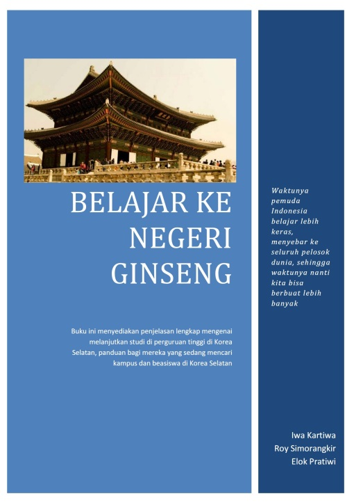 Belajar ke Negeri Ginseng 2014