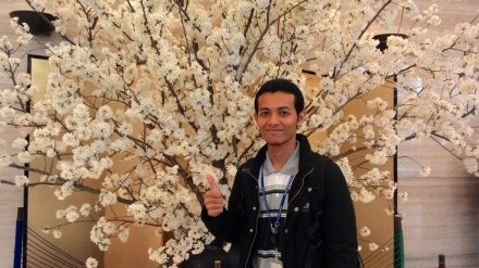 With The Real Sakura di depan Gedung Kasumigaseki Tokyo
