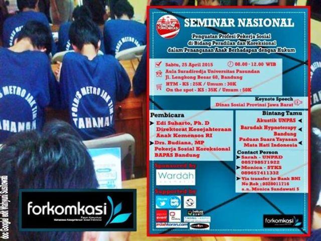 Info Semnas Kongres 4 FORKOMKASI 2015