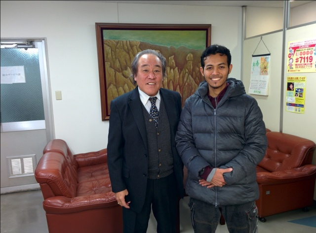 With President Director of Osaka Jikyokan, Japan