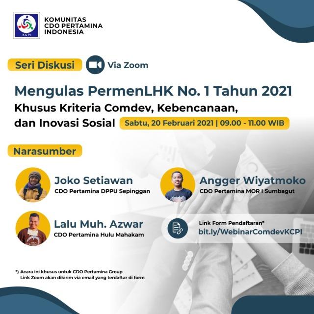 Pamflet Webinar Perdana KCPI 2021 - PermenLHK No. 1 th 2021